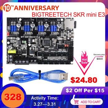 BIGTREETECH SKR mini E3 V1.2 لوحة تحكم 32Bit مع TMC2209 UART VS TMC2208 For اندر 3 Pro/5 SKR V1.3 E3 DIP قطع غيار طابعة ثلاثية الأبعاد