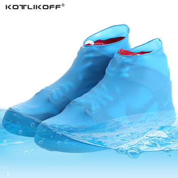 Reusable Latex Waterproof Rain Shoes Covers Slip-resistant Rubber Thicken Rain Boot Overshoes Anti-slip Boot Protector Covers unisex pvc waterproof reusable rain shoes covers rubber slip resistant rain boot overshoes men
