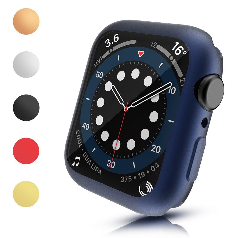 Гибкая крышка ТПУ для наручных часов Apple Watch SE чехол серии 6 5 4 40 мм 44 Экран протектор матовый корпус для наручных часов iWatch, изысканный задний ...