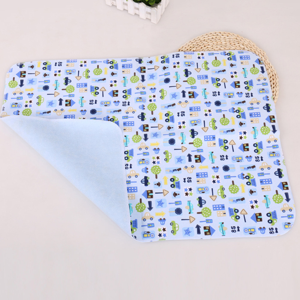 30x45cm Reusable Bedding Nappy Urine Home Isolate Baby Infant Changing Pad Replace Cartoon Printed Waterproof Sheet Playmat Soft