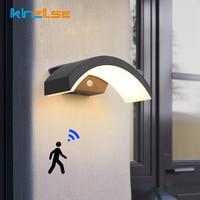 12W 20W Outdoor LED Wand Lampe Wasserdicht PIR Motion Sensor Veranda Leuchte Garten Hof Treppen Exterior Decor Wand licht Leuchte