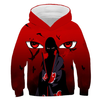 2020 Naruto Hoodies Streetwear Uchiha Itachi Pullover Sweatshirt For Boys Fashion Autumn Winter Hip Hop Hoodie Pullover 4-14Yrs 2020 naruto akatsuki hoodies women men itachi pullover fashion autumn winter sweatshirt unisex hip hop streetwear hooded coat