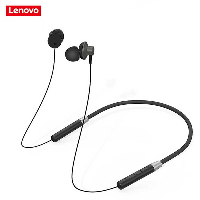 Lenovo White He05 Bluetooth Headphone Wireless Earphone Bt5 0 Sports Sweatproof Headset Ipx5 With Mic Noise Cancelling New Aliexpress