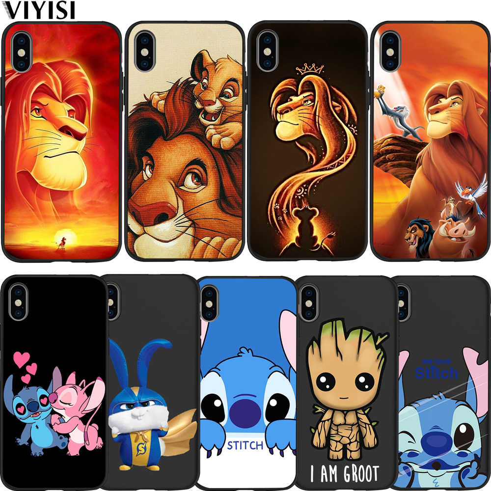 Ponto Groot Rei Leão Animal Caso de Telefone Para o iphone caso do iPhone X XS XR 7 MAX 8 6 6S além de 5 5S SE Funda Estojo Coque Silicone Celular