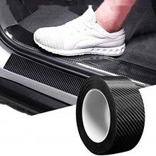 Car Threshold Protection Pad Bumper Carbon Fiber Protective Film Car Wrap Film Car Wrap Film Self-adhesive Anti-collision Film