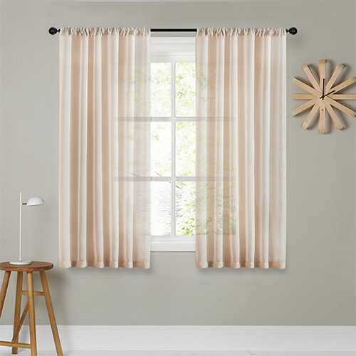 Modern Short Curtains For Kitchen Bedroom Soild Tulle Window Screning Curtain Blinds Roman Curtain Drapes Voile Finished Decor