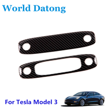 For Tesla Model 3 2018 2019 Rear seat Reading Light Cover trim decoration strips Interior roof Lamp Frames carbon fiber drawing rear seat reading light cover abs decoration strips for tesla model 3 2018 2019 interior roof lamp frames