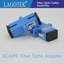 50/100/200/500 piezas UPC SC Simplex de modo único adaptador de fibra óptica SC de fibra óptica acoplador SC UPC fibra brida SC conector