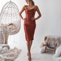 Неоновое атласное кружевное летнее женское облегающее длинное платье миди без рукавов с открытой спиной Элегантные наряды для вечеринок п...
