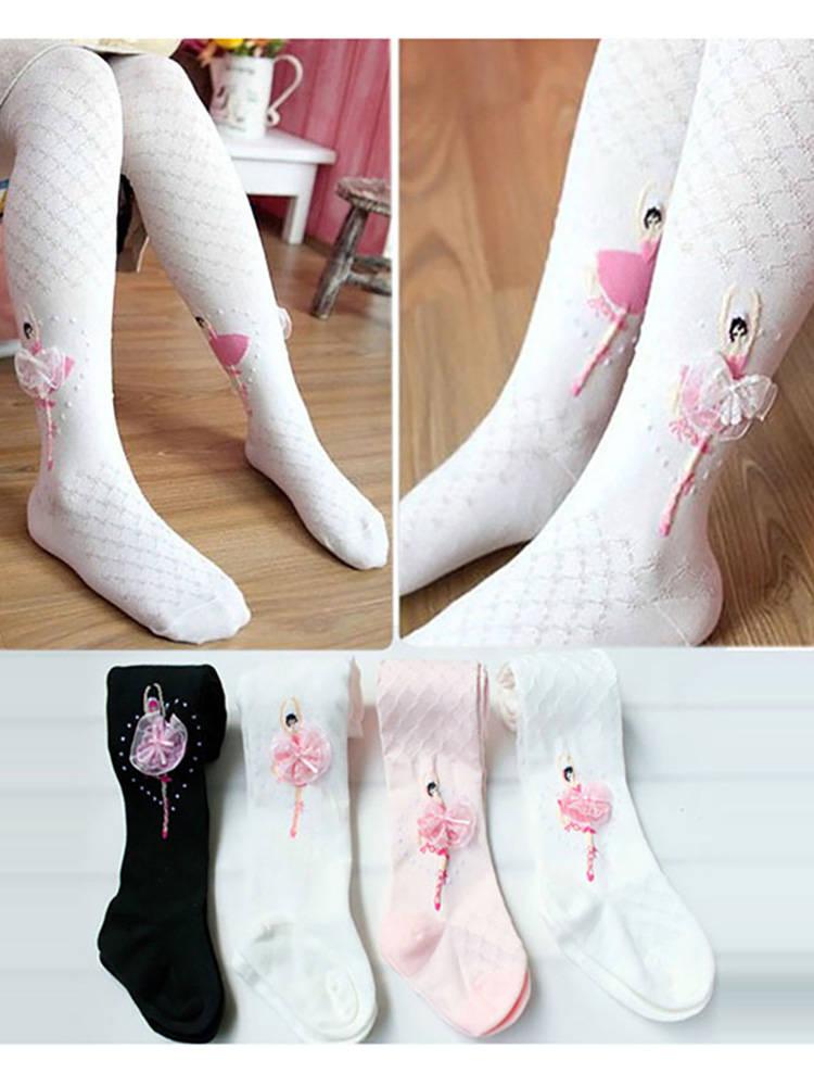 Cotton Tights for Girls Ballet Dancing Girls Tights Cute Princess Print Children Pantyhose