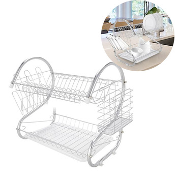 2 Tier S-Shaped Dish Drainer  1