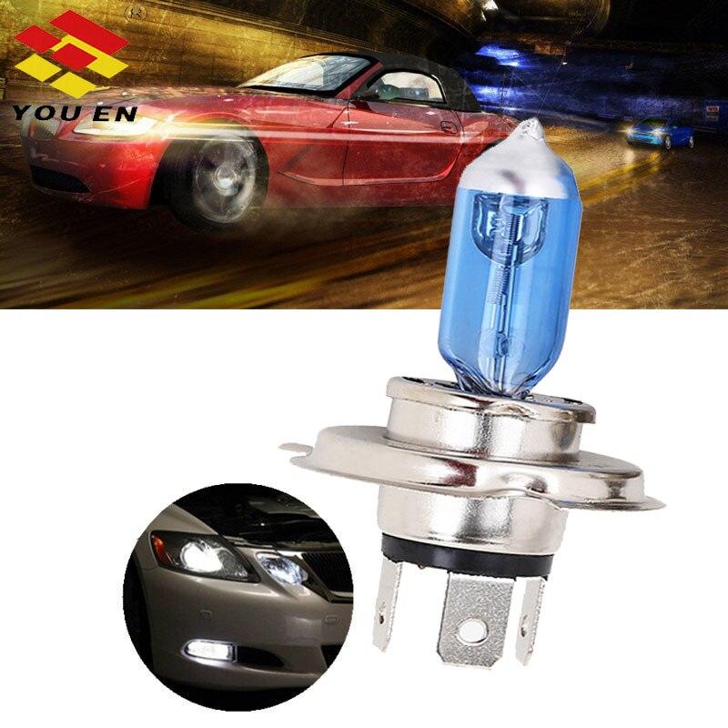YOUEN Автомобильные фары H1 H3 H4 H7 H8 H9 H11 9005 HB3 9006 HB4 автомобильные галогенные лампы Противотуманные фары 55 Вт 100 Вт 12 в белые фары