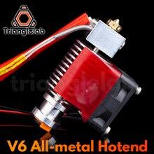 Trianglelab Highall metall V6 Hotend 12V/24V Fernbedienung Bowen Druck J kopf Hotend und Kühlung fan Halterung Für E3D HOTEND Für PT100