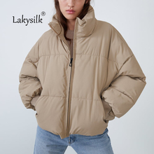 Winter Warm Thicken Parkas Women Solid Stand Collar Full Sle
