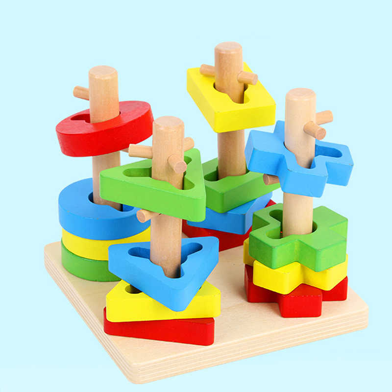 Деревянные математические игрушки-головоломки для маленьких детей, обучающая игрушка для детей дошкольного возраста, обучающая игра Монтессори для детей ясельного возраста