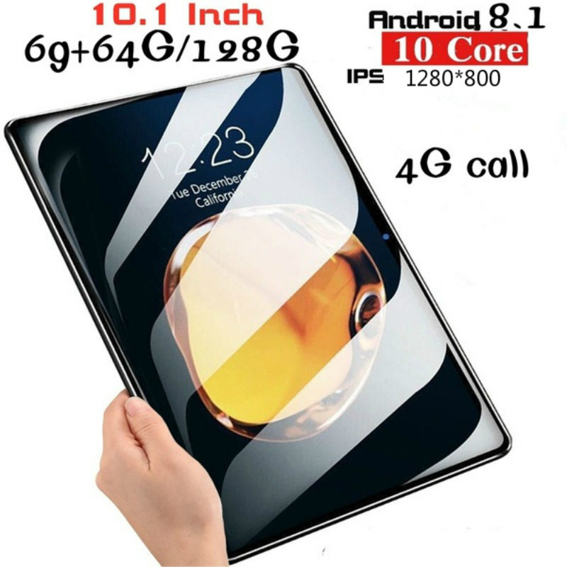10.1 Inch Android 8.1 1280*800 IPS Screen Tablet Ten Core 6G+16GB/64GB/128GB 4G Dual SIM Card Phone Bluetooth  Wifi Tablets PC