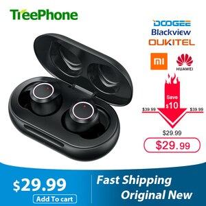 Image 1 - Doogee Dopods TWS Fingerprint Touch Bluetooth 5.0 bezprzewodowe słuchawki Bluetooth z etui z funkcją ładowania inteligentny cyfrowy zestaw słuchawkowy