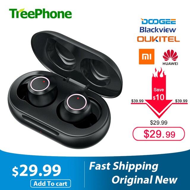 Doogee Dopods TWS Fingerprint Touch Bluetooth 5.0 bezprzewodowe słuchawki Bluetooth z etui z funkcją ładowania inteligentny cyfrowy zestaw słuchawkowy