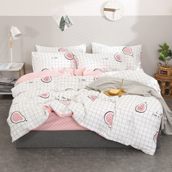 INS Cotton Hipster Four-piece Set Northern European-Style Home Textile Bedding Article 100% Cotton Bed Sheet Quilt Cover Bedding