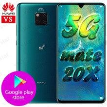 재고 있음 Huawei Mate 20X5G 휴대 전화 Balong 5000 Mate 20X 5G 버전 7.2 인치 8GB 256GB Kirin 980 Octa Core 40W SuperCharge