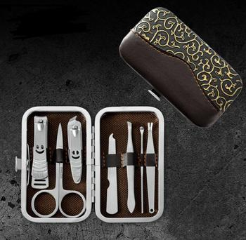 Nail Care Tools Manicure Sets Nail Clippers Nail Scissors Tweezer Manicure Pedicure Set Travel Grooming Kit 7pcs/set SN196