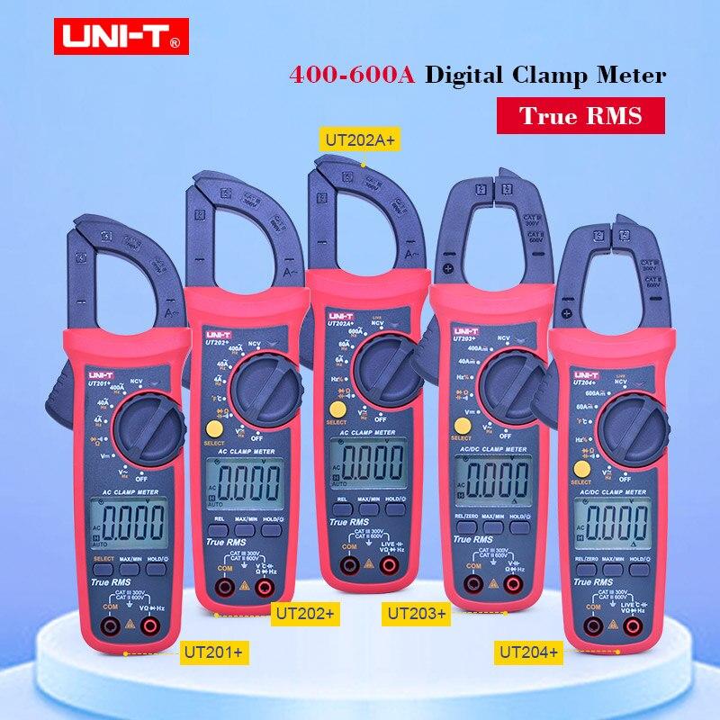 UNI-T True RMS Clamp meter UT201  UT202  UT203  UT204  400-600A false detection protection Auto range high precision multimeter