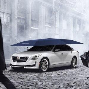 Image 3 - 1pcs OEM 로고 4.5 미터 자동차 커버 자동 차 그늘 우산 텐트 안티 자외선 보호 자동차 액세서리 무선 컨트롤러