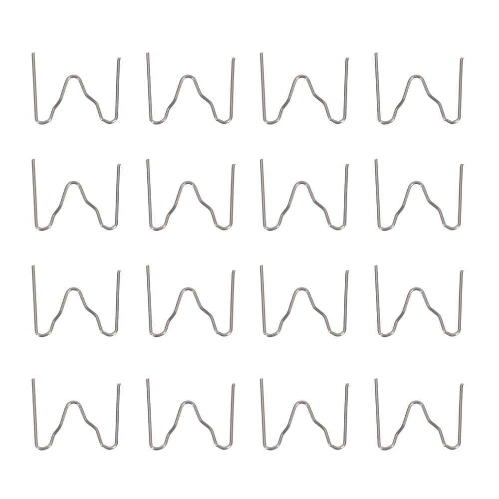 100 Pcs/set Precut 0.6 Mm-0.8 Mm Gelombang Panas Datar Staples untuk Plastik Stapler Perbaikan Tukang Las Alat Perbaikan Universal