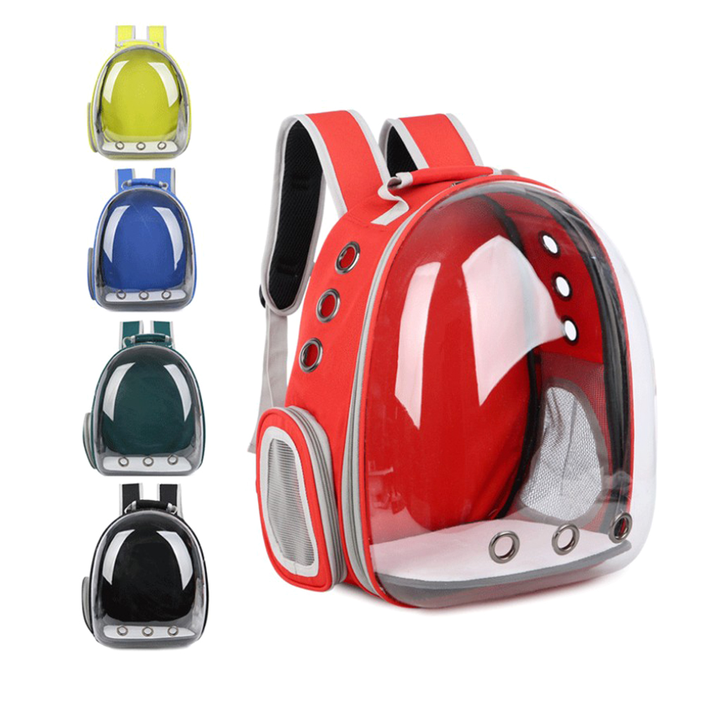 Clear Pet Backpack Carrying Bag Outdoor Travel Portable Breathable Space Capsule Cat Puppy Backpack Pet Cats Backpack Carrier