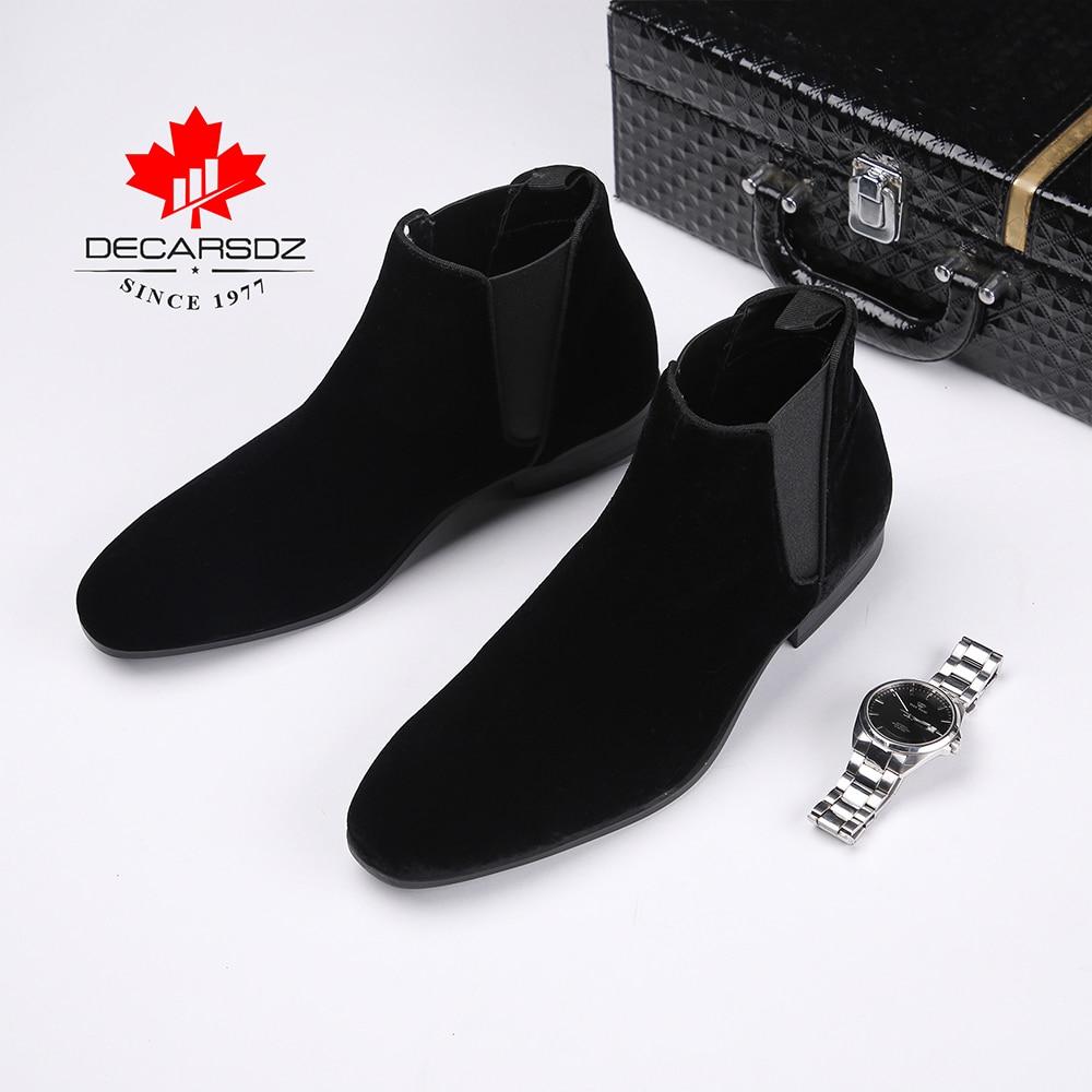 DECARSDZ Men Chelsea Boots Spring Autumn Fashion Shoes Man Comfy Slip-on Casual Boots Men New Original classic design Men Boots 1