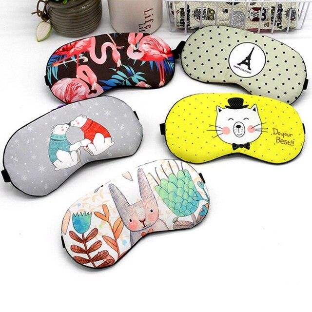 Cute Cotton Cartoon Eye Cover Sleeping Mask Creative Funny Eyepatch Sleep Mask Travel Relax Eye Band Sleeping Aid Kids Blindfold 2