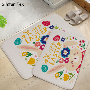 Silstar Tex Foor Mat Cute Rabbit Play Area Carpets For Children Funny Rugs Living Room Easy- Clean Home Decoration image