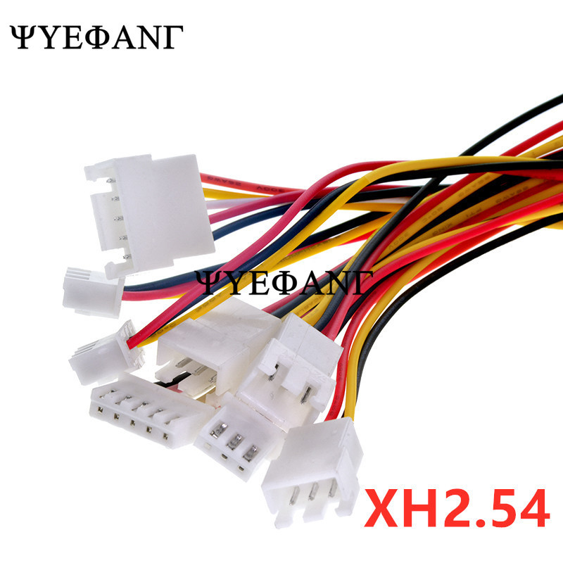 10PCS <font><b>JST</b></font> <font><b>XH2.54</b></font> 2/3/4/5/6 Pin Pitch 2.54mm Wire Cable Connector XH Plug <font><b>Male</b></font> & Female Battery Charging Cable 200MM Length 26AWG image