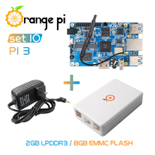 Orange Pi3 2G8G+Power Supply+Protective Case, Support Gigabit/wifi/BT/HDMI,Under Android