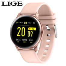 LIGE akıllı saat erkekler kadınlar SIM TF Push mesajı kamera Bluetooth bağlantısı Android telefon spor pedometre dijital akıllı saat