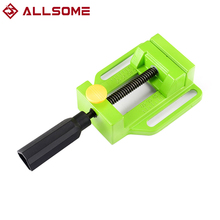 2.5 Inch Bench Flat Vise Tong Multifunction Aluminum Drill Press Vise Table For Milling Engraving Woodworking Power Tools