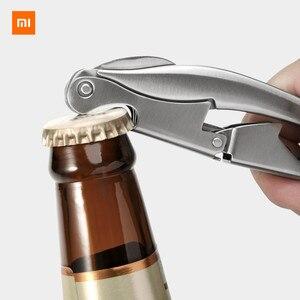 Image 1 - Xiaomi Mijia cercle joie acier inoxydable Sommelier couteau ouvre bouteille tire bouchon ouvre bouteille de vin accessoires intelligents