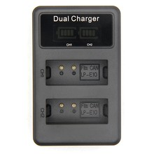 For Lp-E10 Usb Battery Charger Dual Ports Lcd Display Quick Charging Camera Digital Battery Charger For Canon 1100D 1200D 1300D(China)