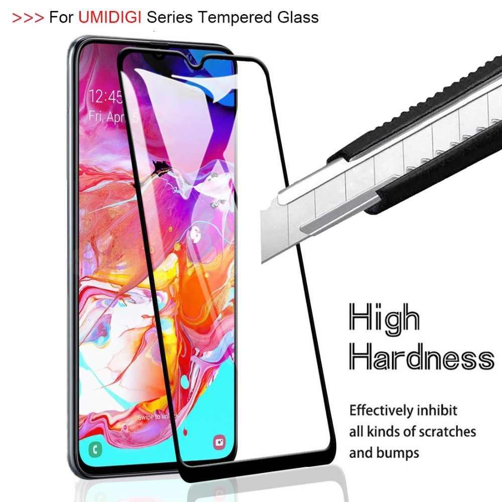 5D için tam kapak temperli cam UMIDIGI güç F1 oyna One Max ekran koruyucu için UMIDIGI F1 S3 Pro 6.3 inç koruyucu Film