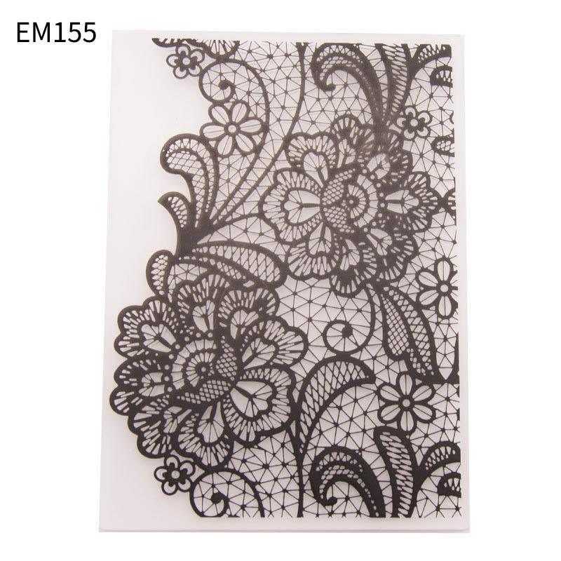 Plastic Lace Pattern Stencils Embossing Folders DIY Scrapbooking Paper Card Making For Photo Album Decor Wedding Decoration 1Pc