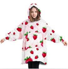 Oversized cobertor do hoodie cobertor macio oodie cobertor hoodie para crianças com capuz cobertor com grande bolso frontal família correspondência