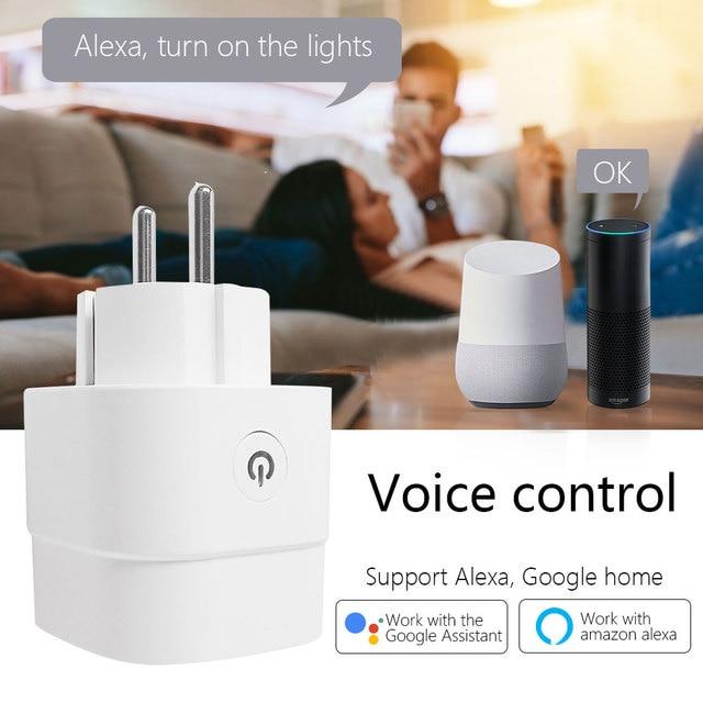 CBE WiFi Smart Plug Sockets 16A EU Plug Tuya Smart Life APP Work with Alexa Google Home Smart-Home Automation EU UK US Plug 2