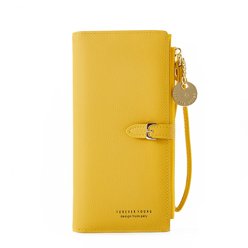 Fashion Women Wallets And Purses Wristband Long Female Wallet Clutch  Zipper Phone Pocket Card Holder Ladies Carteras