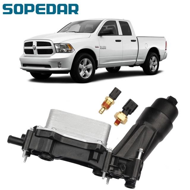 Car Engine Oil Filter Housing Adapter For Chrysler Dodge Challenger Durango Caravan Jeep Ram 3.6L 3.2L 68105583AF 68105583AC 1