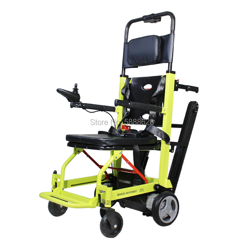 Electric Stair Climbing Wheelchair Foldaway Motorized Power WheelChair Lift Portable