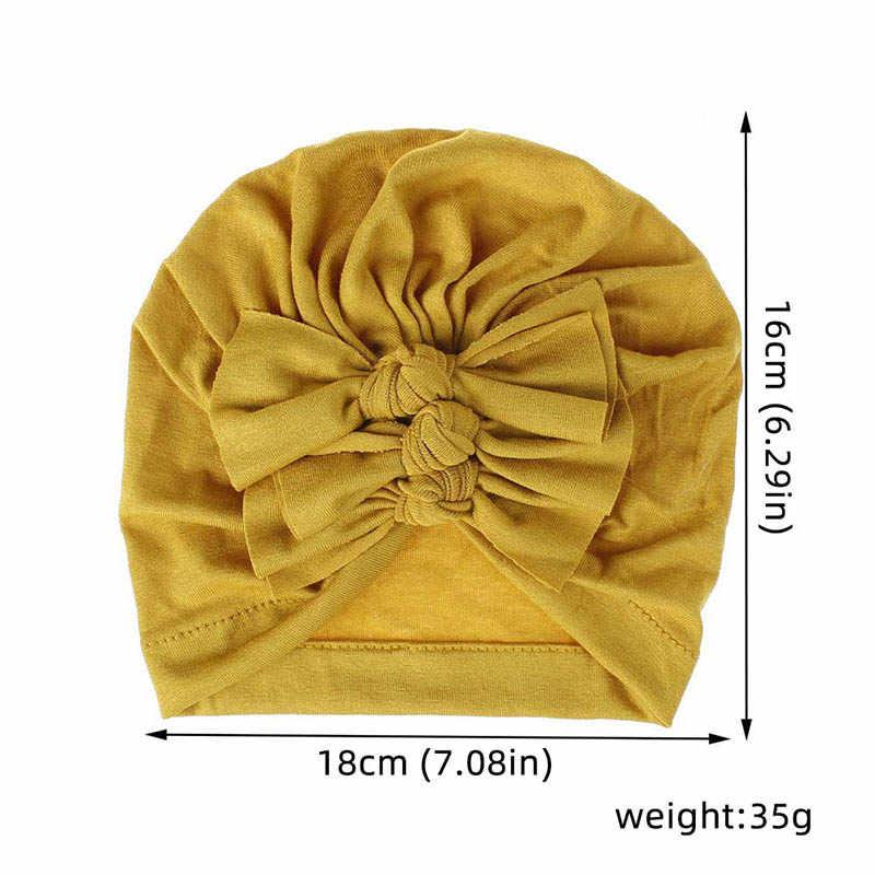 弓ベビー帽子コットン新生児ビーニーキャップ冬秋女の子の帽子キッズ子供幼児の女の子帽子ボンネットキャスケットランファン