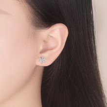 Fashion Stud Earrings Simple Temperament Snowflake-shape for Women Sexy Engagement Party Jewelry