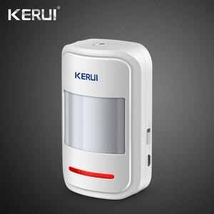 Image 4 - מקורי Kerui Wifi GSM מעורר W18 App בקרת בית פורץ LCD מסך מגע מעורר אבטחת בית אזעקה מערכת עשן גלאי
