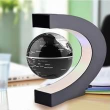 Flutuante levitação magnética globo led mapa do mundo eletrônico antigravidade lâmpada novidade bola luz decoração para casa presentes de aniversário