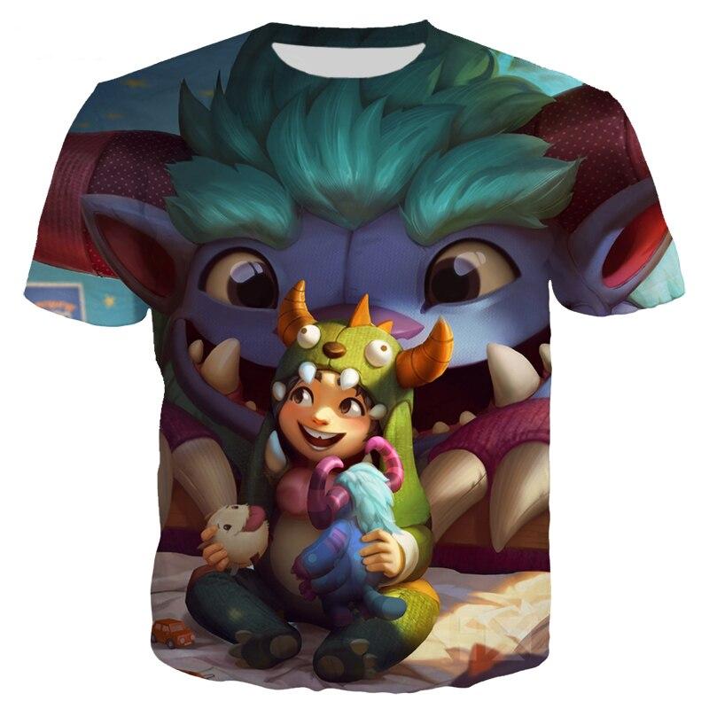 Игры Лига Легенд Футболка Мужская/женская одежда 3D принт герой кожи футболки Повседневный стиль Уличная Топы Пуловер 1 к